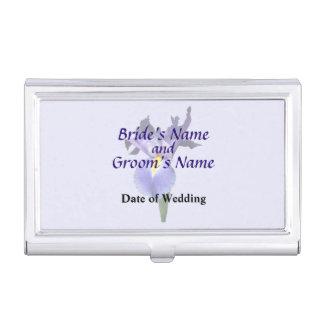 Empfindliche lila Iris-Hochzeits-Produkte Visitenkarten Dose