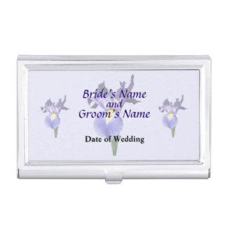 Empfindliche lila Iris-Hochzeits-Produkte Visitenkarten Etui