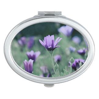 Empfindliche lila Lavendel-Blumen Taschenspiegel
