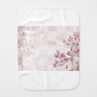 Empfindliche rosa Baby-Kleidung Spucktuch
