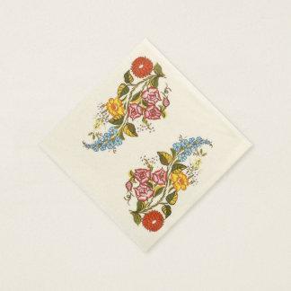 empfindliche ungarische Blumen Papierserviette
