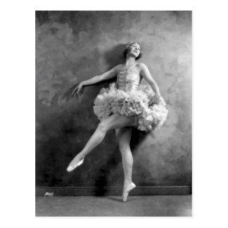 Empfindliche Vintage Ballerina-Tänzer-Fotografie Postkarte