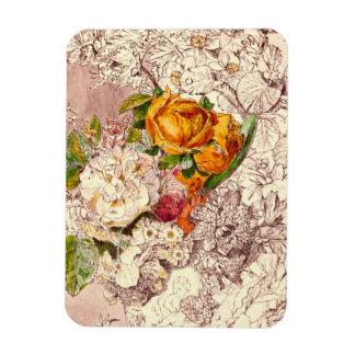 Empfindliche Vintage Rosen-Kunst Magnet