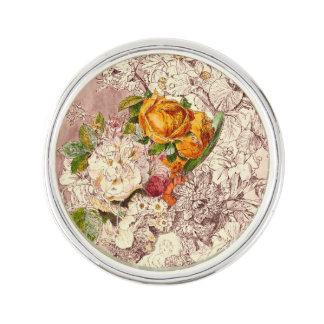 Empfindliche Vintage Rosen-Kunst Pin