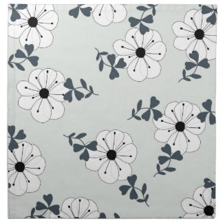 Empfindlicher Blumen-Entwurf Stoffserviette