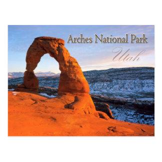 Empfindlicher Bogen, Bögen Nationalpark, Utah Postkarte