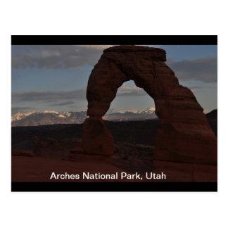 Empfindlicher Bogen, gelegen im Bogen-Nationalpark Postkarte