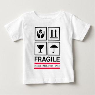 Empfindlicher des Griffs grafischer Baby T-shirt
