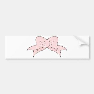 Empfindlicher kleiner rosa Bogen Autoaufkleber