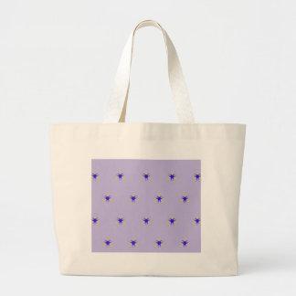 Empfindlicher Lavendel lila Explosions-Muster Jumbo Stoffbeutel