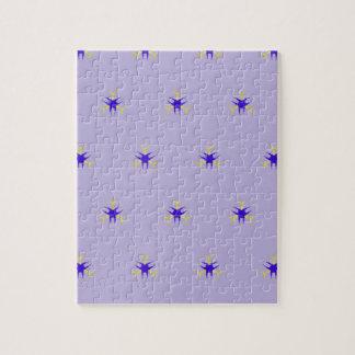 Empfindlicher Lavendel lila Explosions-Muster Puzzle