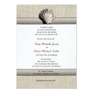 Empfindlicher Seashell-elegante einzigartige 12,7 X 17,8 Cm Einladungskarte