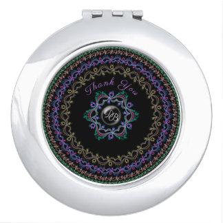 Empfindlicher verflechtender Rebe-, eleganter u. Taschenspiegel