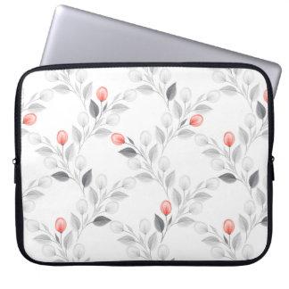 Empfindliches Blumenmuster Laptop Sleeve