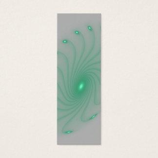 Empfindliches grünes Glühen Bookmaark Mini Visitenkarte