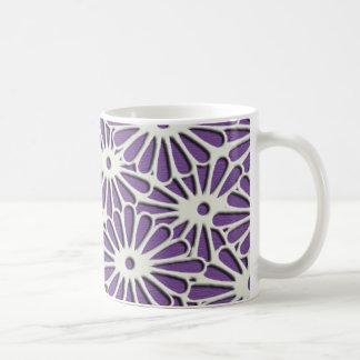 Empfindliches Muster der Diamant-Chrysanthemen Kaffeetasse