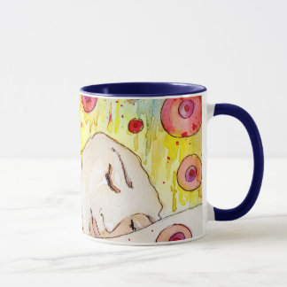 empfindliches und empfindliches Mädchen Tasse