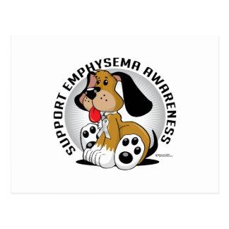 Emphysem-Hund Postkarte