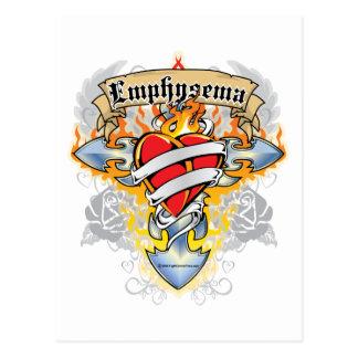 Emphysem-Kreuz u. Herz Postkarte