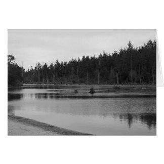 Empire See in Schwarzem u. im Weiß Grußkarte