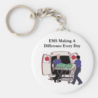 EMS, der einen Unterschied jeden Tag macht Schlüsselanhänger