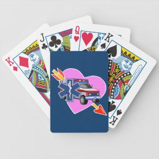 Ems-Herz von Sorgfalt Bicycle Spielkarten