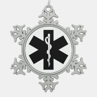 Ems-Thema Schneeflocken Zinn-Ornament