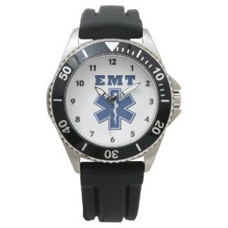 EMT blauer Stern des Lebens Uhr