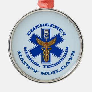 EMT frohe Feiertage Silbernes Ornament