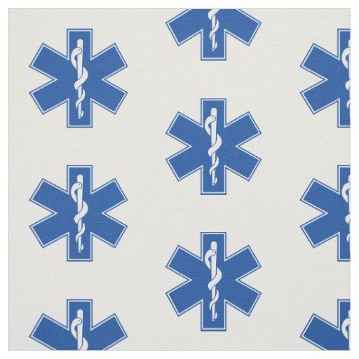EMT Sanitäter-Symbol-Gewohnheit Stoff | Zazzle | {Sanitäter symbol 48}