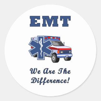 EMT sind wir der Unterschied Runder Aufkleber