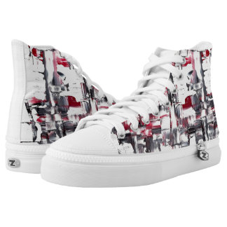 Emy Zipz hohe Spitzenschuhe Hoch-geschnittene Sneaker