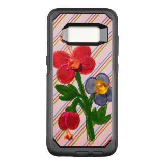 EnamelFloral kundenspezifisches äußeres Schwarzes OtterBox Commuter Samsung Galaxy S8 Hülle
