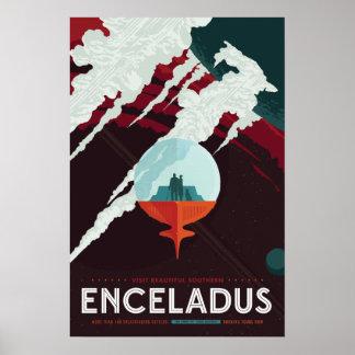 Enceladus Raumfahrt-Plakat Poster
