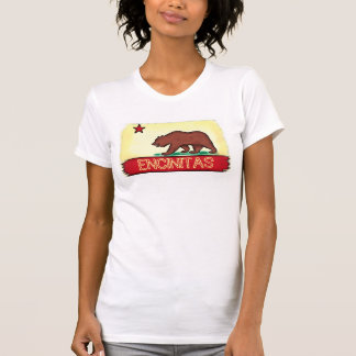Encinitas Kalifornien Damen-Staats-Flaggent-stück T-Shirt