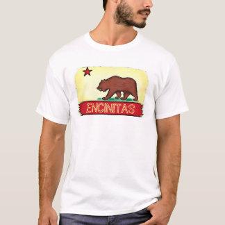 Encinitas Kalifornien Typ-Staats-Flaggent-stück T-Shirt