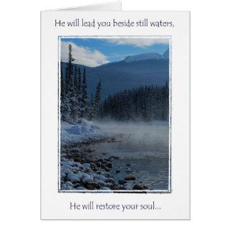 encouragment Grußkarte, Psalme 23 Karte