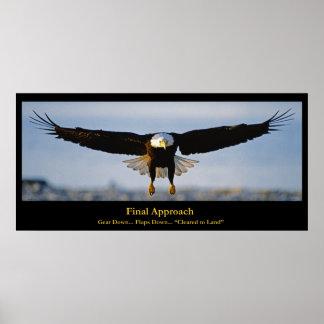 Endanflug-Weißkopfseeadler-Gewohnheits-Plakat Poster