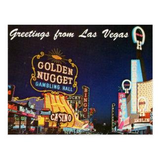 Ende der 50er-Jahre-Las Vegas-Postkarte Postkarte