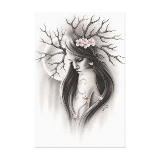 Ende der Anfang Frühlings-Kirschblüten-Leinwand Leinwanddruck