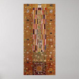 Ende der Wand, Stoclet Fries, Klimt, Mosaik-Muster Poster