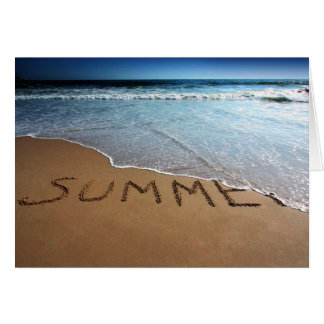 Ende des Sommers an Calilfornia Küste Grußkarte