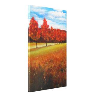 Ende Herbst-der Acrylmalerei-| eingewickelten Leinwanddruck