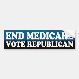 Ende Medicare: Abstimmungs-Republikaner Autoaufkleber