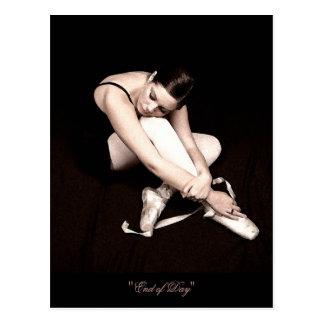 Ende Tagesder schlafenballerina-Postkarte Postkarte
