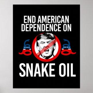 Enden-amerikanische Abhängigkeit auf Poster