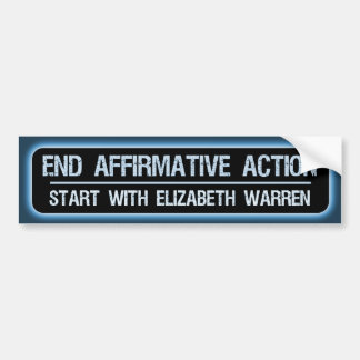Enden-Diskriminierung-Anfang mit Elizabeth Waren Autoaufkleber