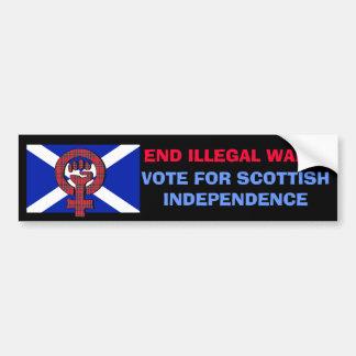Enden-illegale Kriegs-schottischer Unabhängigkeits Auto Aufkleber