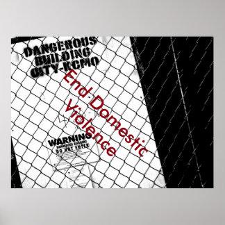 Enden-inländisches Gewaltplakat Poster