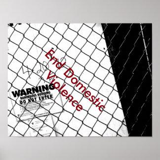 Enden-inländisches Gewaltplakat Plakat